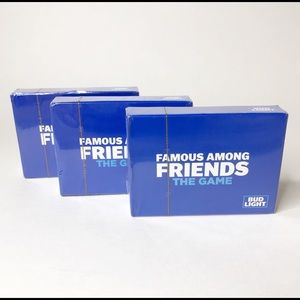 Bud Light Famous Among Friends Game Cards Lot Of 3
